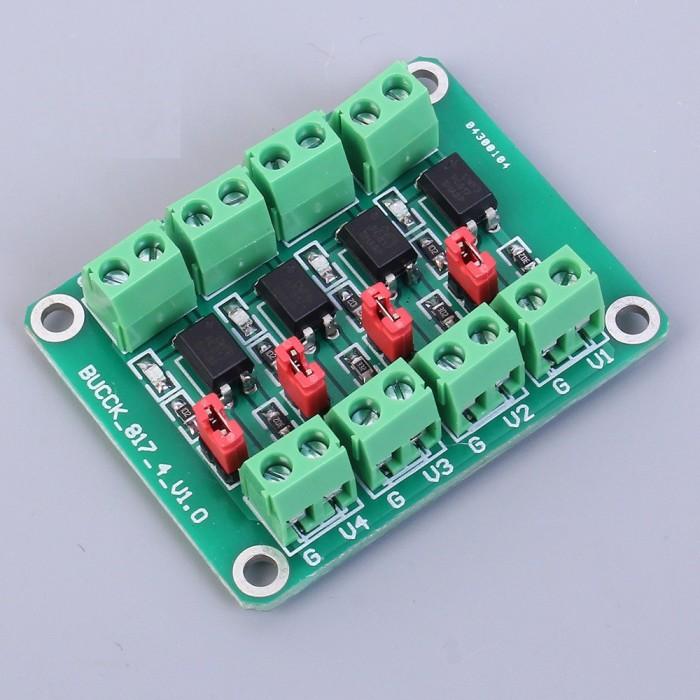 Foto Produk PC817 4-Channel Converter Module Optocoupler Isolation Module Voltage dari LisuInstrument