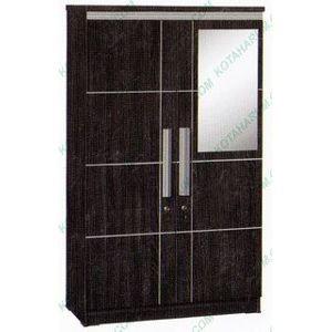 harga Lemari baju pakaian 2 pintu hitam kaca cermin 140 graver bandung Tokopedia.com