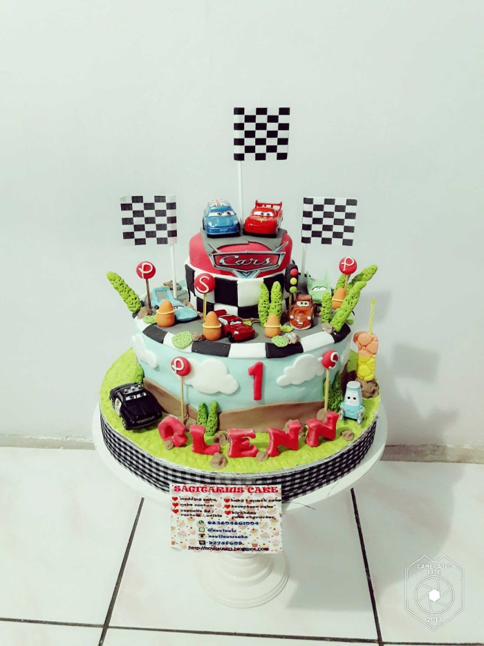 Jual Kue Ulang Tahun 2 Tingkat Mc Queen Cars Fondant Cake Jakarta Timur Novlauwcake Tokopedia