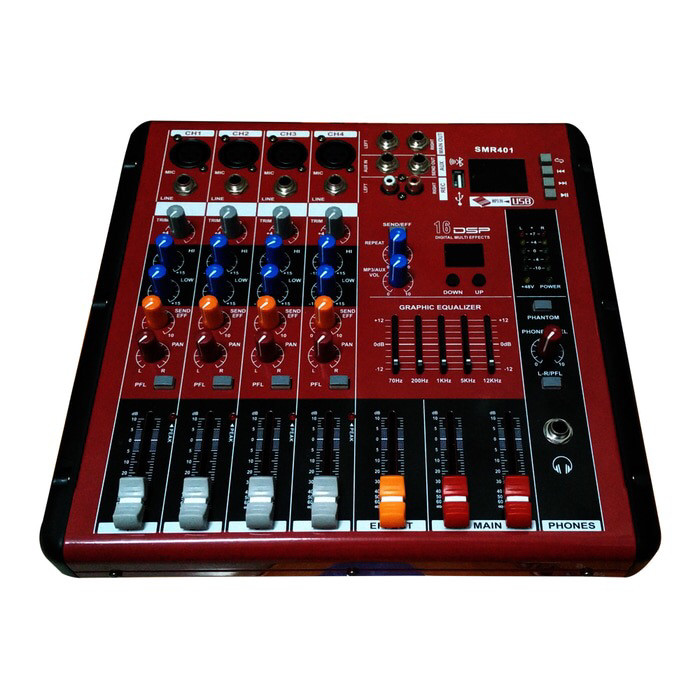 harga Audio mixer smr401(4channel) Tokopedia.com