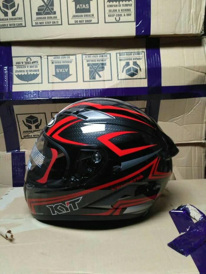 Foto Produk Helm KYT Vendetta2 Carbonized Red dari Dystopia Helmet Shop