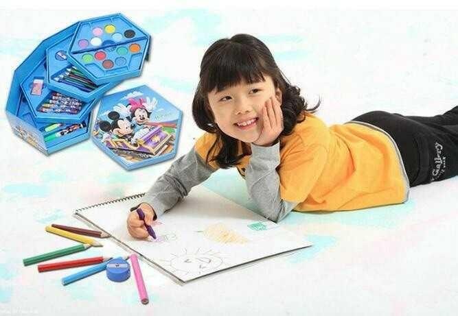 harga Alat gambar mewarnai anak anak crayon set 4 susun isi 46 pcs Tokopedia.com