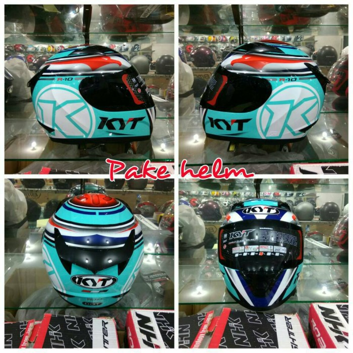 HELM KYT FULL FACE R10 AQUA BLUE