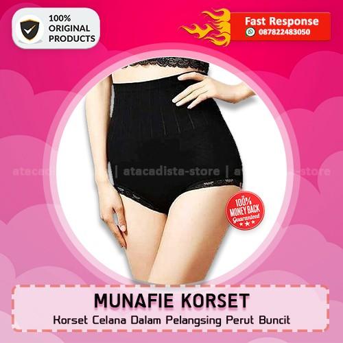 MUNAFIE KORSET SLIMMING PANTS - Celana Dalam Pelangsing - Original - Hitam