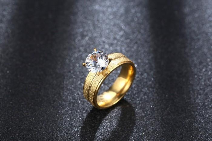 Cincin Berlian Lapis Emas Perak (Perhiasan, Kalung, Gelang) - BR020