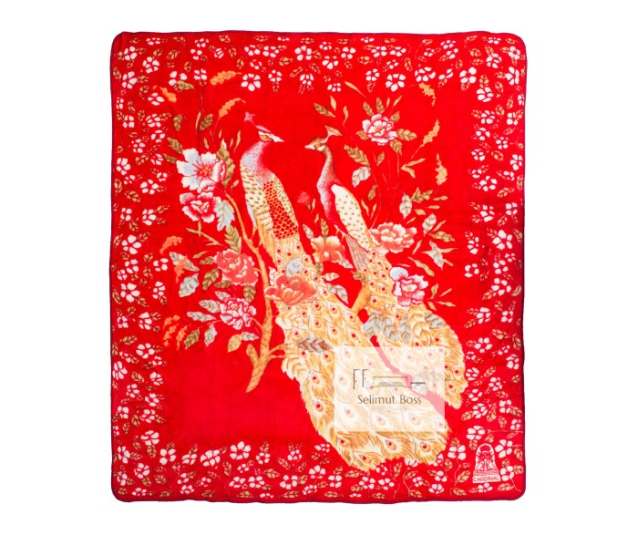 harga Selimut bulu halus tebal merak (cardinal) 220 x 240 cm Tokopedia.com