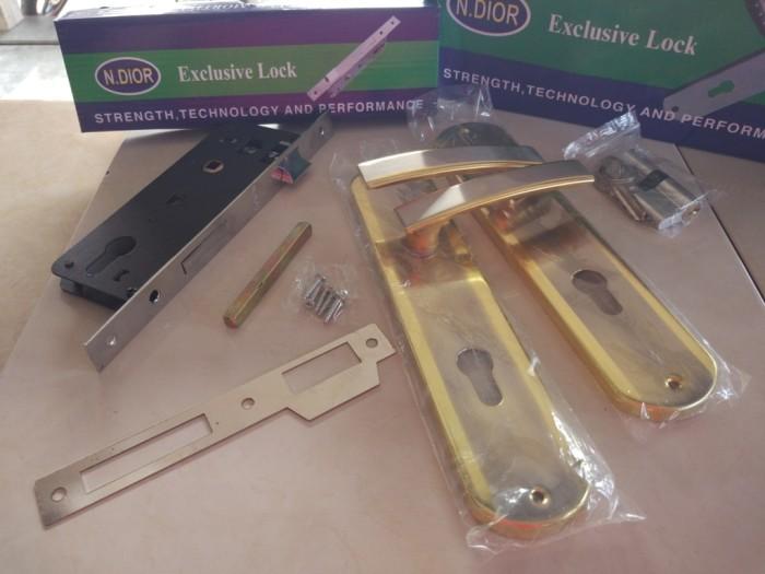 harga Kunci pintu ukuran besar n.dior 10  24 cm konci rumah & handle fullset Tokopedia.com