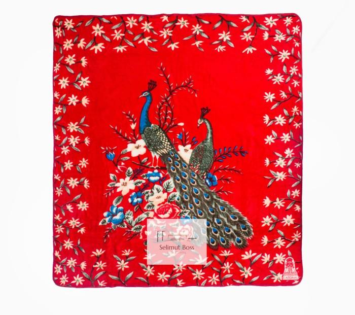 harga Selimut bulu halus tebal merak hijau (cardinal) 220 x 240 cm Tokopedia.com