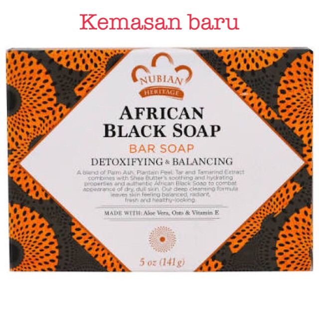 harga Nubian heritage african black soap bar 5 oz (141 g) Tokopedia.com