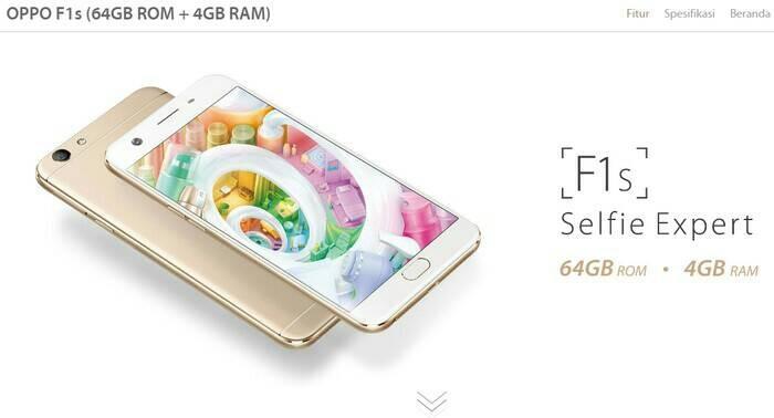 OPPO F1s 64GB Emas