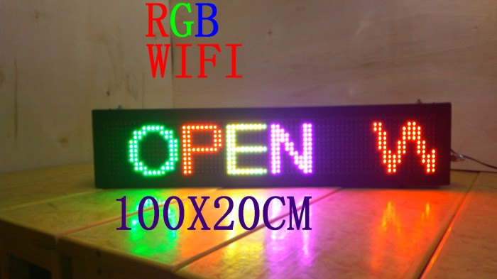 harga Running text rgb 100cm x 20cm wifi outdoor / moving sign led display Tokopedia.com