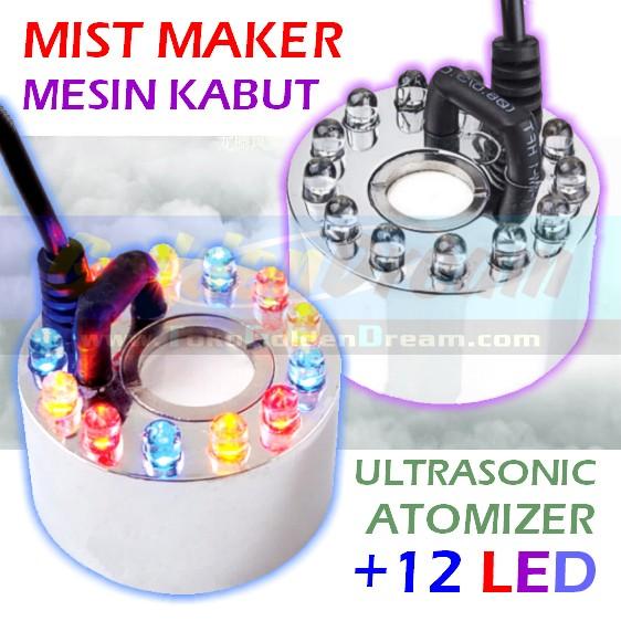 harga Mesin kabut besar   led mist maker fog humidifier atomizer nebulizer Tokopedia.com