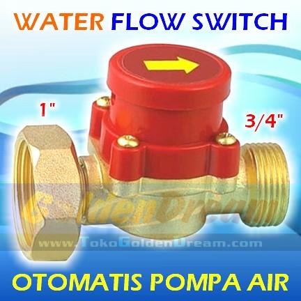harga Otomat pompa air 1  - 3/4  kuningan water flow switch saklar otomatis Tokopedia.com