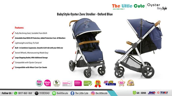 harga Babystyle oyster zero stroller - oxford blue / kereta dorong bayi Tokopedia.com