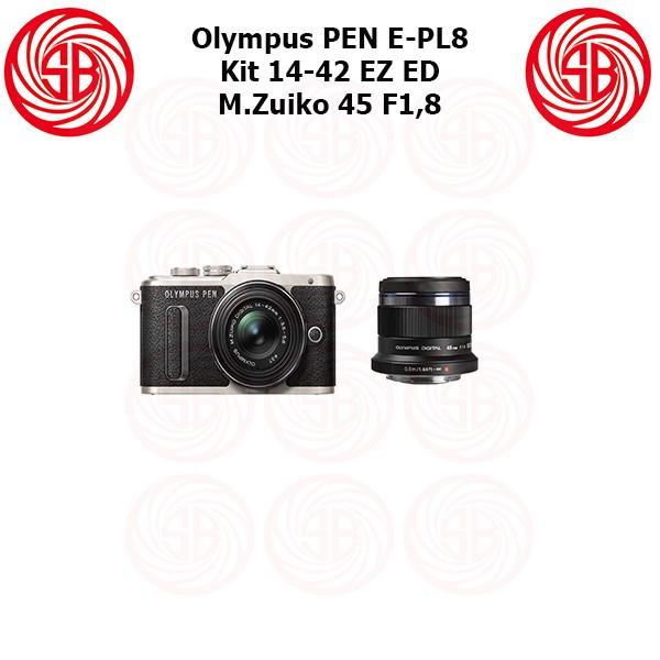 harga Kamera olympus pen epl 8 + 14-42 ez + 45mm ; pen e-pl8 ; mirrorless Tokopedia.com