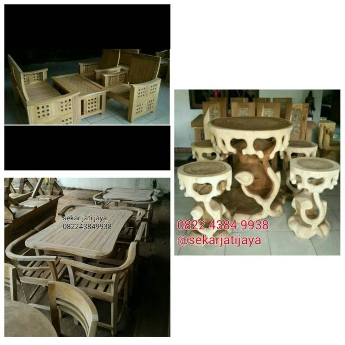 harga Pesanan meja makan jati kursi tamu jati dan kursi teras trembesi Tokopedia.com