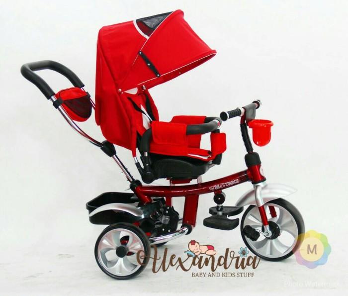 harga Sepeda tricycle sepeda roda tiga sepeda bayi putar baring lipat merah Tokopedia.com