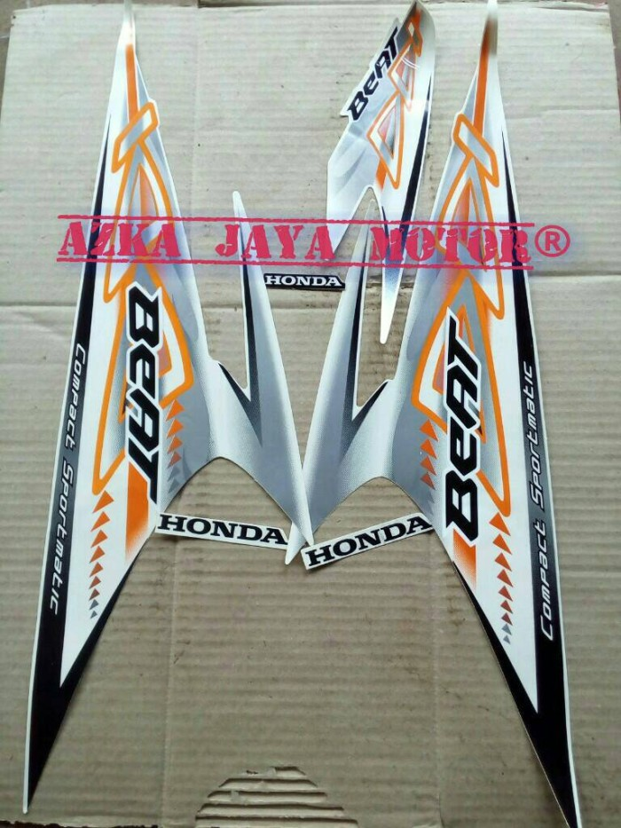 harga Striping / sticker honda beat karbu lama tahun 2012 warna putih orange Tokopedia.com