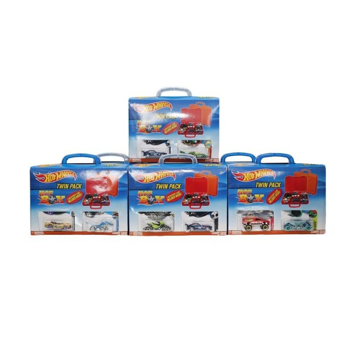 Hot Wheels Twin Pack Hot Box Carry Case Diecast [HW 010]