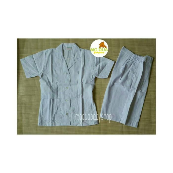 harga Baju seragam suster kulot putih polos s-m-l-xl Tokopedia.com