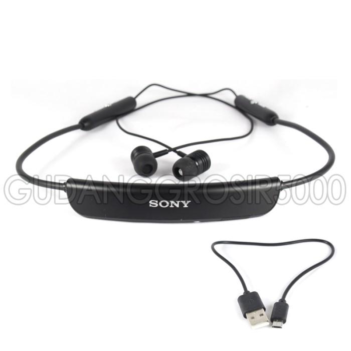 Stereo Bluetooth Headset SONY SBH80 Earphone / handsfree MR0214 - Hitam