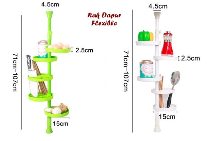 Desain Dapur Sempit Memanjang  jual rak dapur flexible model bulat bisa memanjang 107 cm bosgokil kota surabaya bos gokil tokopedia