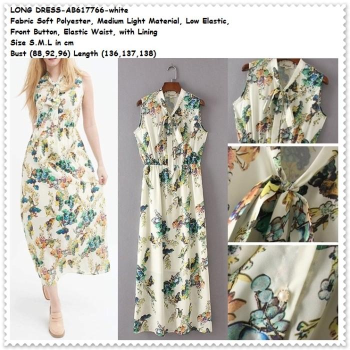 harga White long dress maxi longdress pantai baju wanita korea import putih Tokopedia.com
