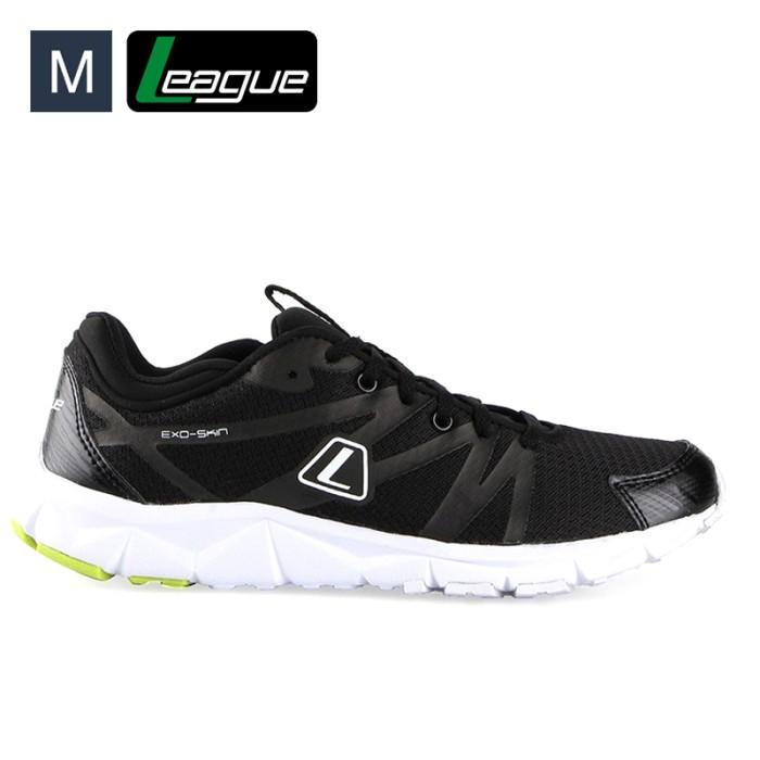 harga Sepatu pria league volkov shades black running Tokopedia.com