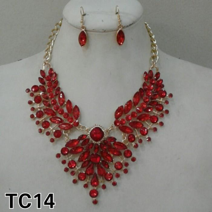 harga Kalung etnik / kalung fashion / kalung set anting tc14 Tokopedia.com
