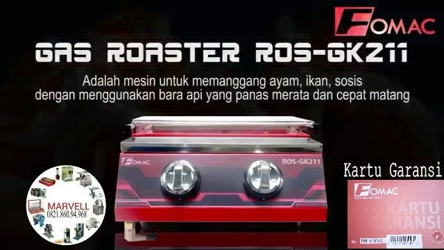 Pemanggang gas tanpa asap Fomac Ros Gk211 - 2 Tungku Ready stok