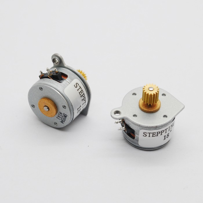 harga Dc micro stepper motor 3v dc 4 wire 2 phase 18 degree with output gear Tokopedia.com