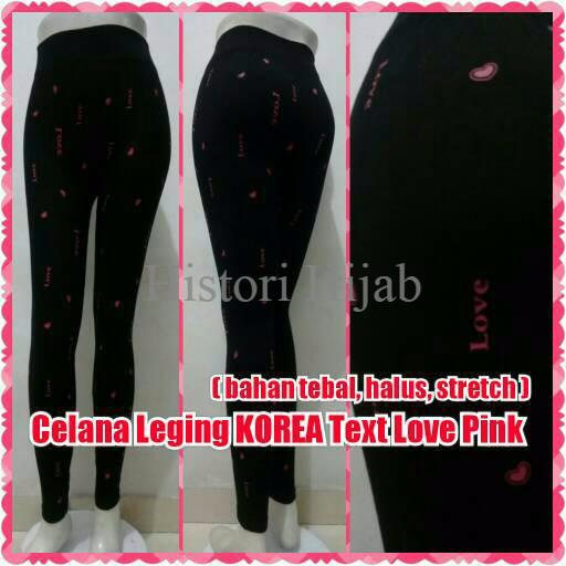 Jual Celana Leging Korea Panjang Text Love Pink Legging Import Bawahan Kab Karawang Histori Hijab Tokopedia