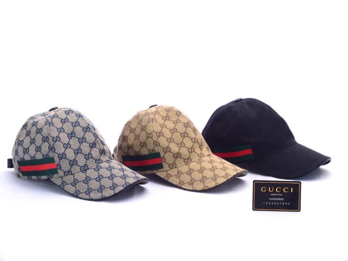 Topi +BOX Gucci Canvas GG-Original Web Biru Dongker Coklat Hitam ORI - Hitam 3e00eaa9f6