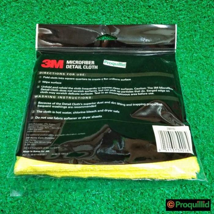 3M Microfiber Detail Cloth-Kain Lap Fiber Pembersih Mobil 39016 Kuning