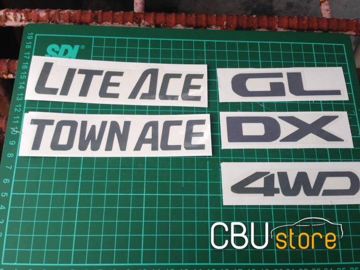 harga Stiker emblem lite ace town ace 4wd dx gl set untuk gran max Tokopedia.com