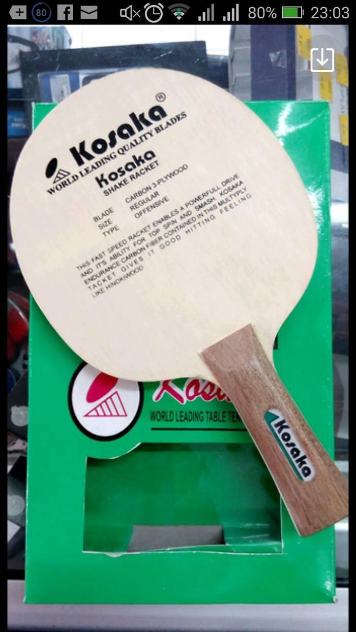 harga Kayu / blade bet / bat pingpong kosaka carbon Tokopedia.com