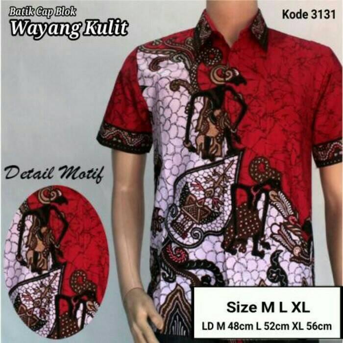 harga Kemeja batik wayang pria modern Tokopedia.com