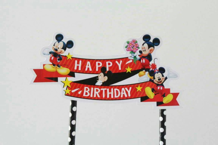 Jual Cake Toppers Mickey Mouse Topper Kue Tart Mickey Mouse Kota Palembang Party Stock Indonesia Tokopedia