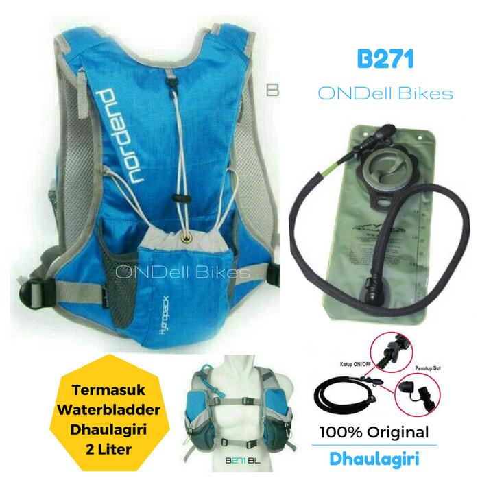 harga Tas sepeda + water bladder dhaulagiri original!! nordend b271 biru Tokopedia.com