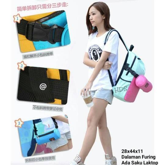 Foto Produk Tas sekolah wanita murah backpack aquabag grosir turun harga dari Then4Shop