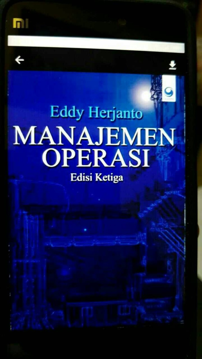 harga Manajemen operasi edisi ketiga eddy herjanto Tokopedia.com
