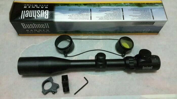 harga Telescope senapan rifle scope bushnell 3-9x40rgb sepaket sunhide Tokopedia.com