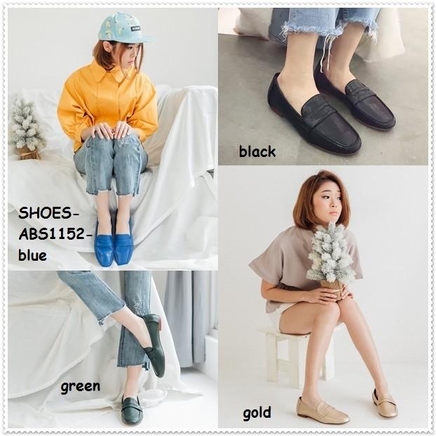 Flatshoes flat shoes selop slip on wanita korea import sepatu kulit