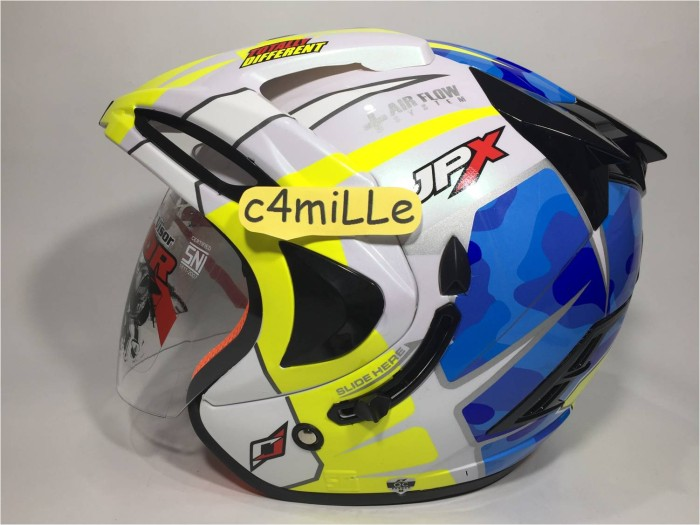 ... BLACK DOFF DOUBLE VISOR HALF FACE Source · HELM JPX SUPREME ESPARGARO 41 PEARL WHITE DOUBLE VISOR HALF FACE