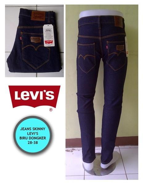 harga Celana jeans pria panjang levis denim model pensil skinny biru navy Tokopedia.com
