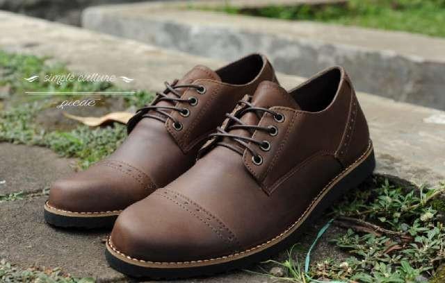 harga Free kaos kaki sepatu casual pria kulit asli man formal piede coklat Tokopedia.com