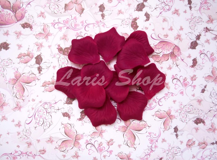 bunga merah marun