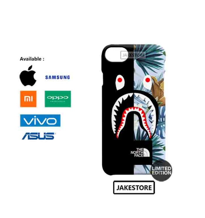 harga Case iphone 6 6s plus bape shark the north face tropical hardcase Tokopedia.com