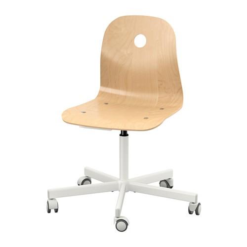 harga Ikea vagsberg/sporren (kursi putar) veneer kayu birch - putih Tokopedia.com