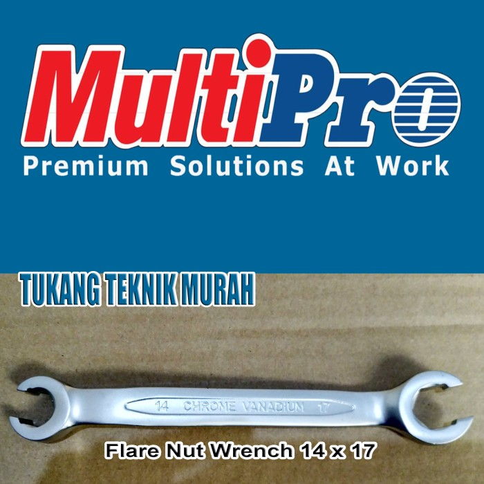 harga Kunci nepel/flare nut wrench 14 x 17mm mulitpro Tokopedia.com